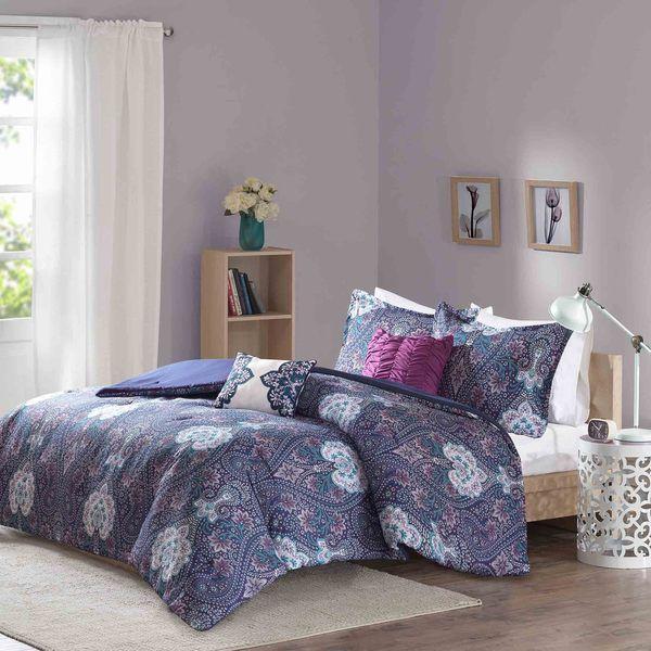 Intelligent Design Neeva Purple Comforter Set