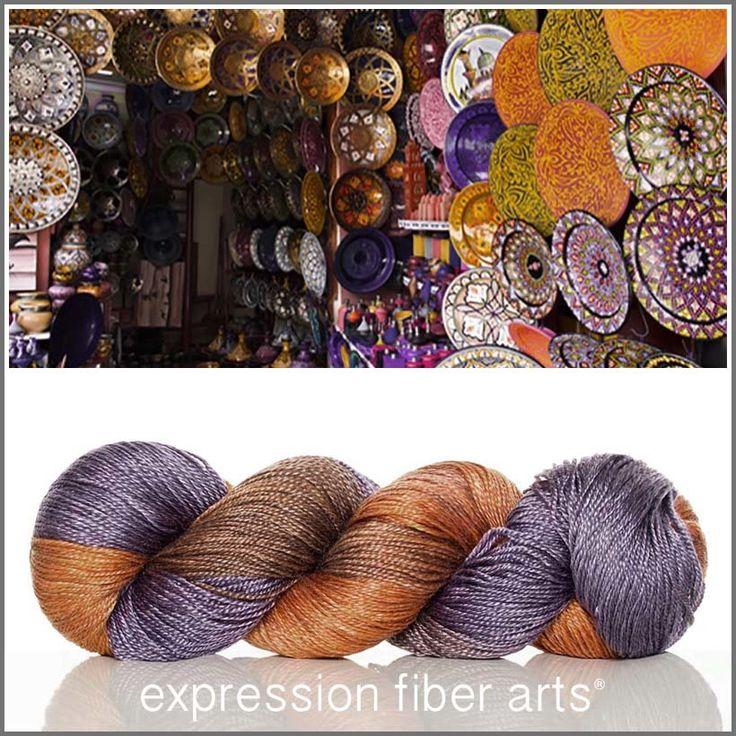 Marrakech Souk - luster merino tencel sport yarn!