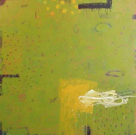 Kevin Tolman, Back Beat/Bosque, mixed media on canvas, 2003, 60 x 60 inches