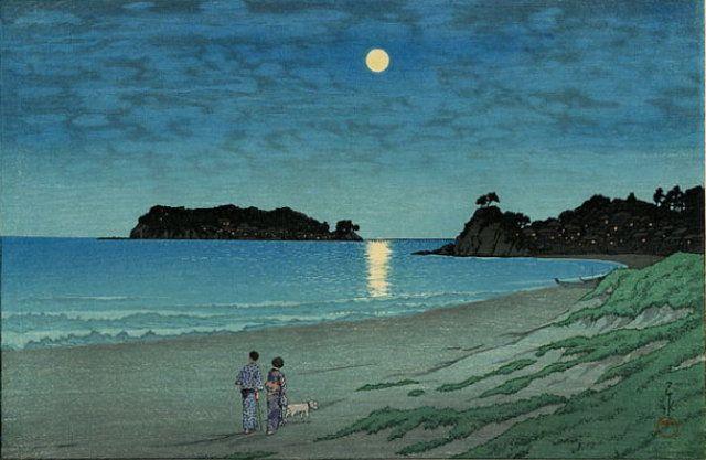 七里ヶ浜(Shichirigahama) :: 川瀬 巴水(Kawase Hasui)