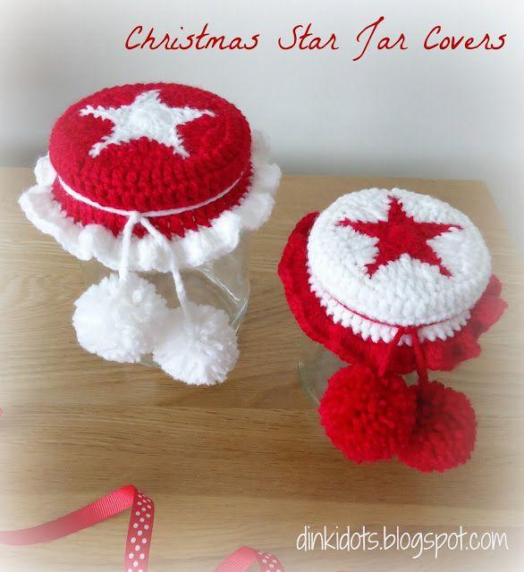 Dinki Dots Craft: Free Tutorial - Christmas Star Jar Covers