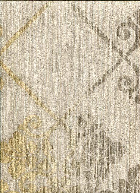 Carte da parato Chic collection - 5537 con disegno ad incrocio damascato con colori sfumati