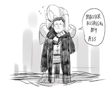 Assassin's Creed // Altair's inability to deal with water. :'D
