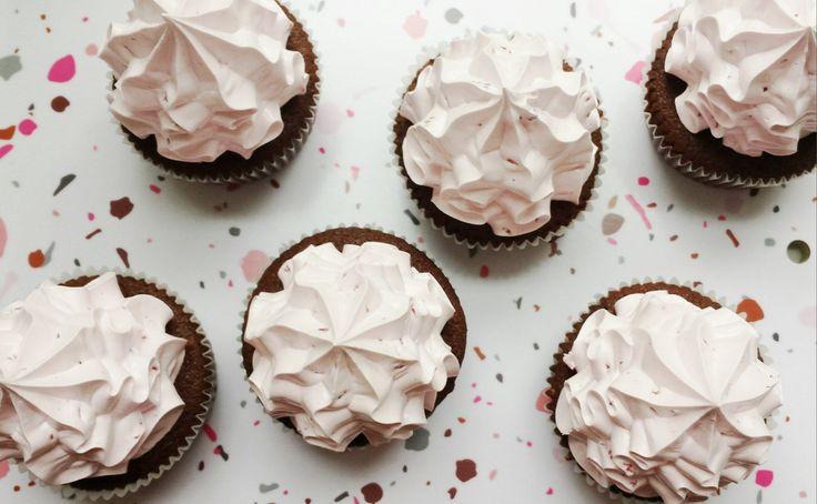 cupcakes med flødebolleskum
