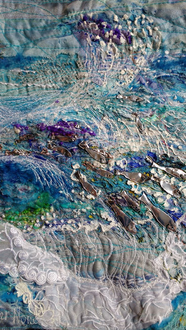 Original textile mixed media work by Heather Norwood
