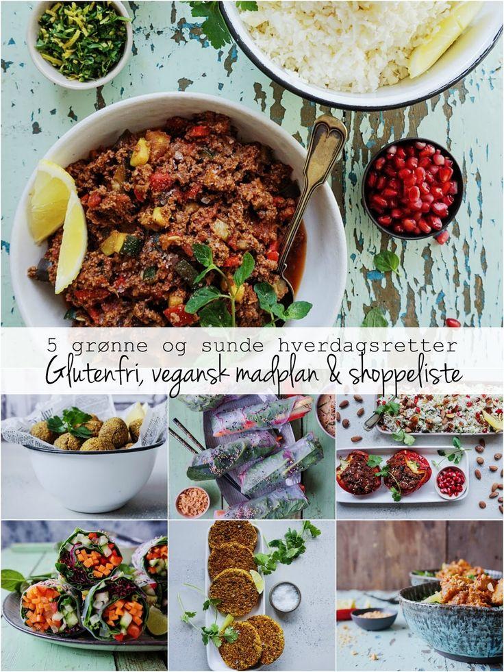 Vanløse blues.....: 5 grønne og sunde hverdagsretter - Glutenfri, vegansk madplan & indkøbsliste