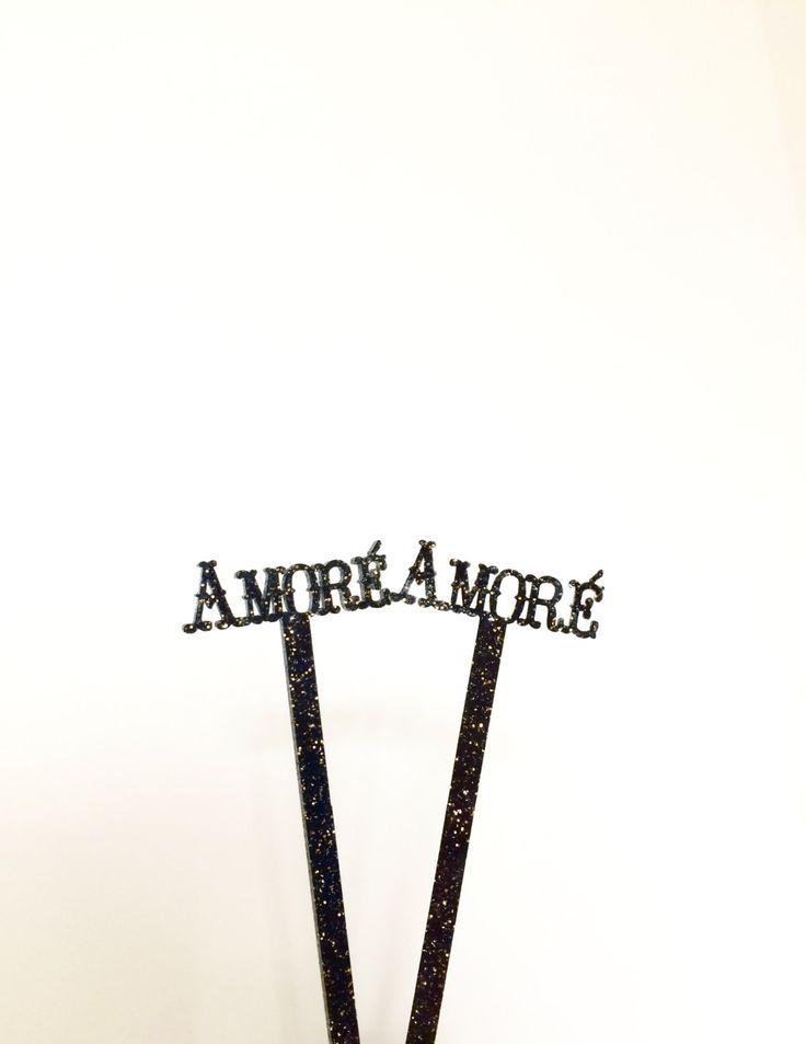 Amoré stir sticks,wedding,swizzle Sticks,Drink Stirrer,Cocktail Sticks,Gold Wedding,Party Decor,Bridal Shower,Engagement Party,bar cart,6 Pk by JennandJulesDesigns on Etsy
