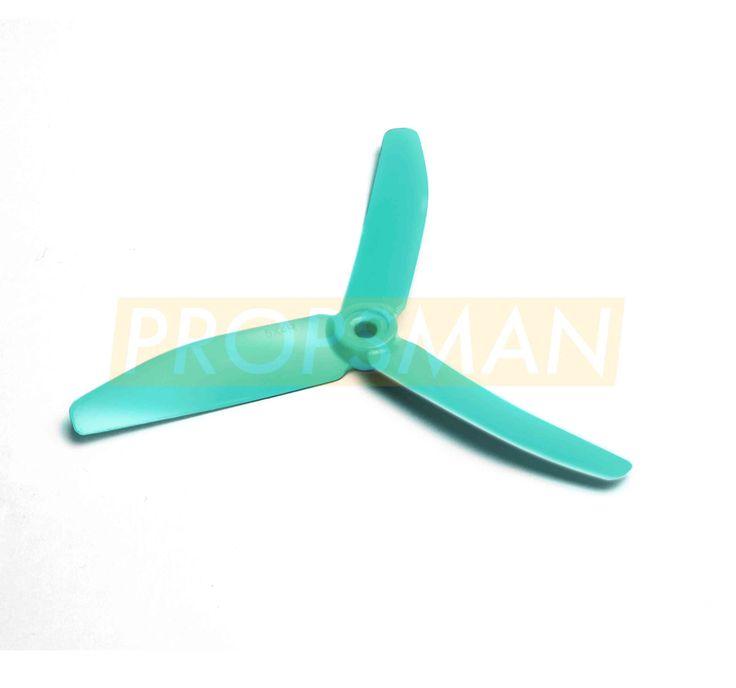 2x HQProp Tri-Blade Propeller - Skitzo Blue (5x4x3)
