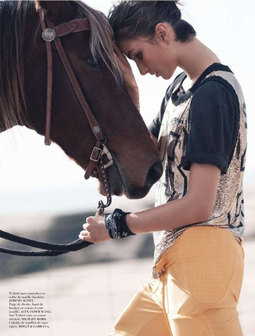Racing Future's #Horses #Art #Fashion #Photo of the Day -- David Sims for Vogue Paris May 2013 with Andreea Diaconu