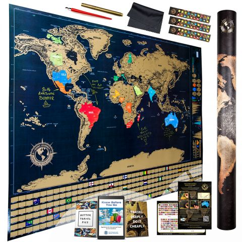 Exclusive Lightning Sale for Travelers: Scratch Off World Map Available with Attractive Discounts and Perks on November 18