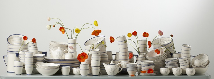 The Merchants Cafe Ceramics, with poppies.