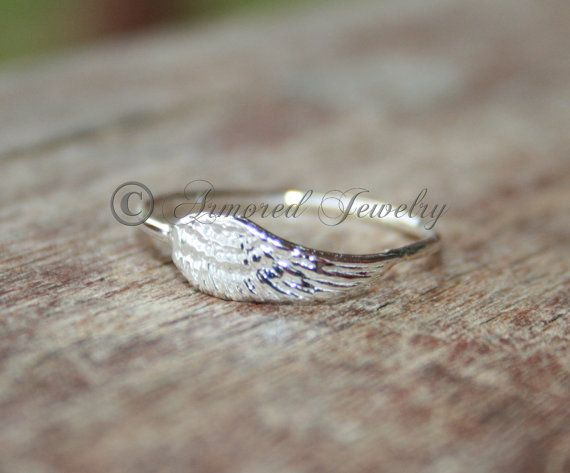 Angel wing ring 2  Sterling silver Angels by ArmoredJewelry, $34.00