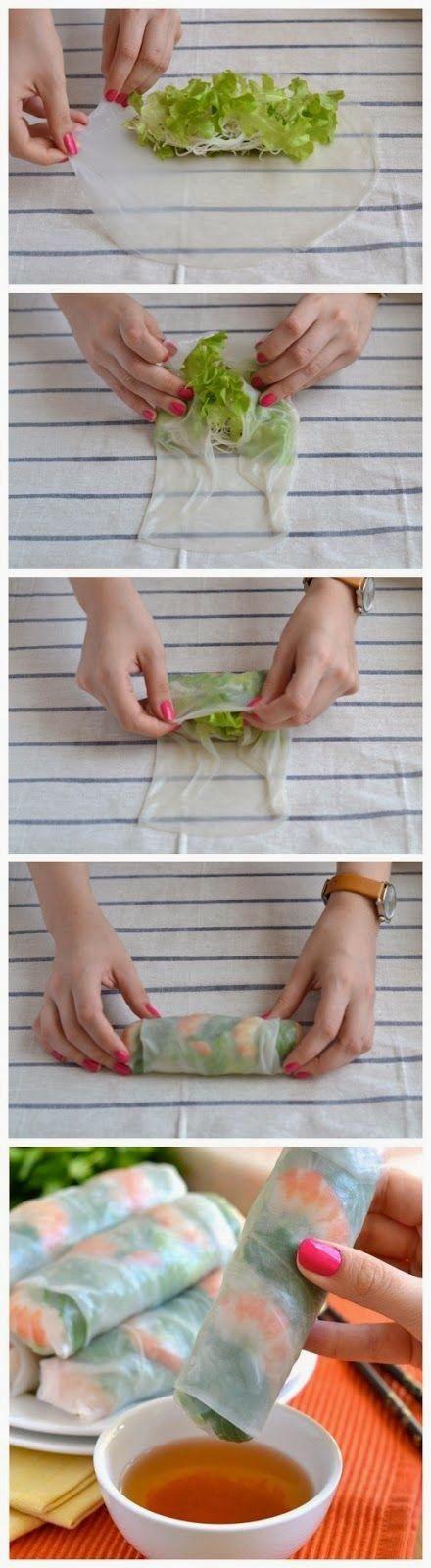 Flores en tu ensalada #recetas ligeras #rollitos vietnamitas