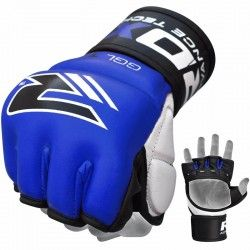RDX Leather Training MMA Gel Grappling Gloves