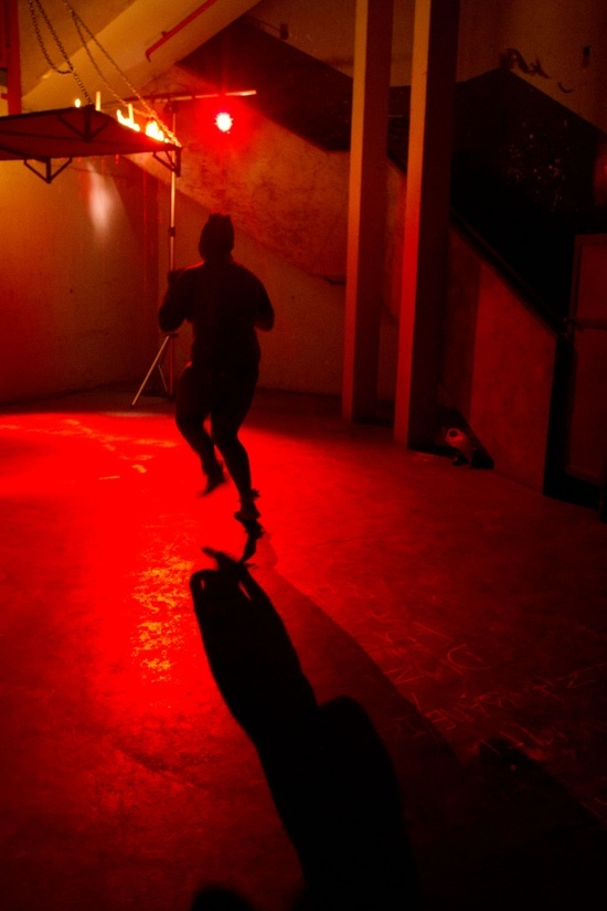Wits Physical Theatre student Albert Khoza's 'Closet Chant', picture by Esther Hausler