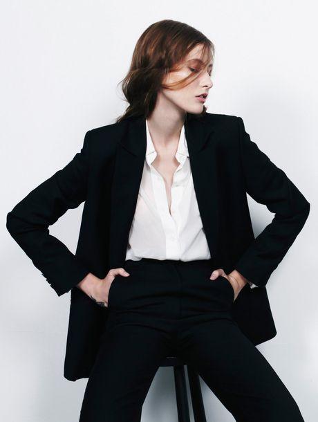 ..Charlie May black wool suit..
