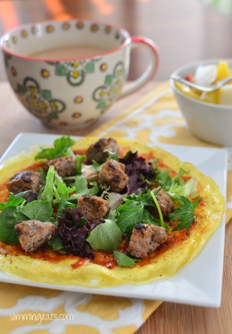 Breakfast Omelette Pizza