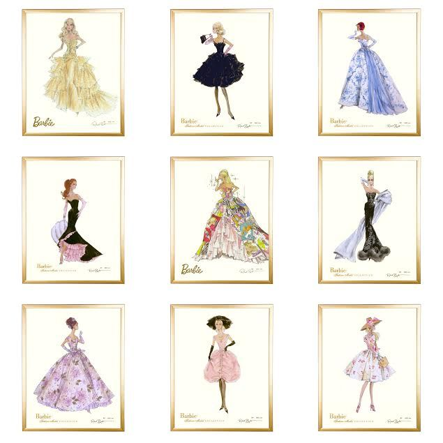 36 best Barbie Fashion Prints images on Pinterest ...