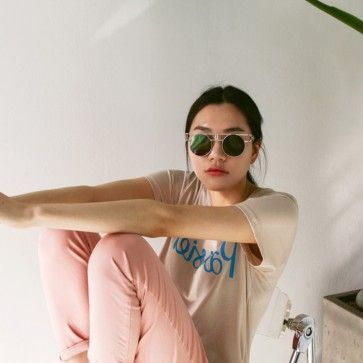 "[Parisien Tee] A basic #tee, #tshirt #top featuring a ""parisien"" graphic. Round neckline. Short sleeves. #korean #koreanclothes #koreanclothing #koreanfashion #onlinestore #shopping #onlineshopping #fashiontoany #stylenanda"