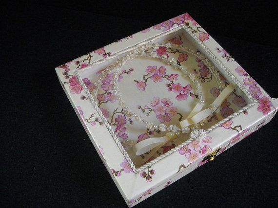 Bespoke Wedding Crown Display Box  Stefanothiki by HandmadeByFiona, $110.00