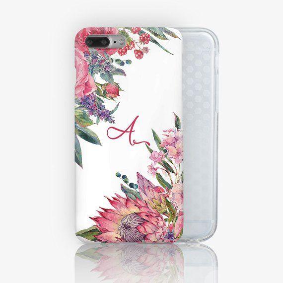 wholesale dealer 99dd0 c93ab Monogram iPhone Case Floral iPhone 8 Plus Case iPhone 7 Case | Etsy ...
