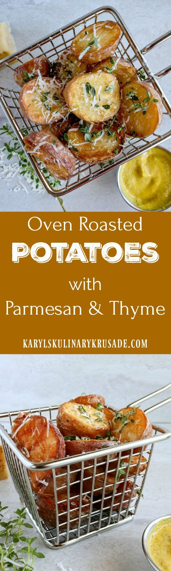 Oven Roasted Potatoes. Baby red potatoes get that…