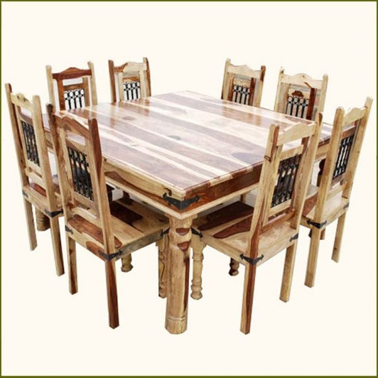 Wood Dining Room Steppe And Chair Set For 8 Transitional