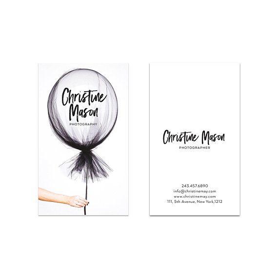 Business Card Design Balloon Business Card Premade Etsy Printable Business Cards Business Card Design Name Card Design