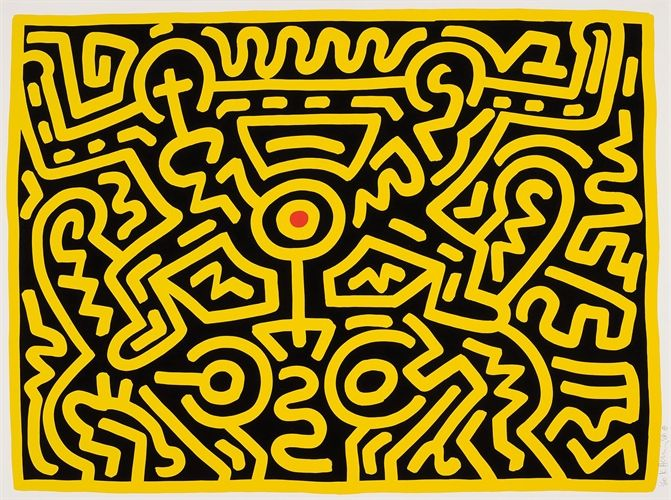 Growing 4 by Keith Haring on artnet Auctions