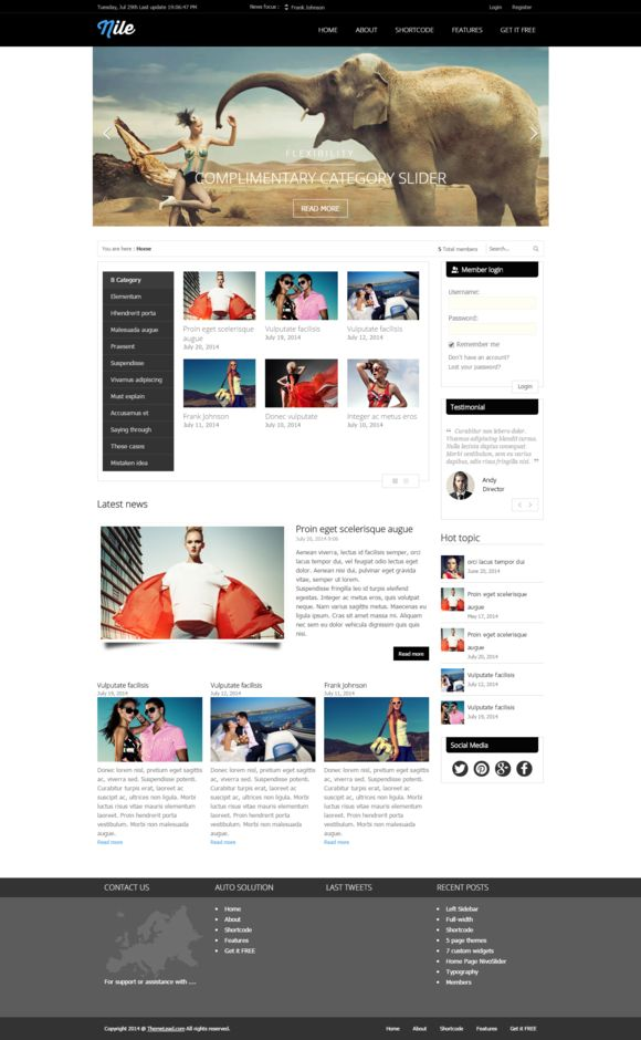 Check out Nile - Free WordPress Magazine Theme by ByJoomla on Creative Market