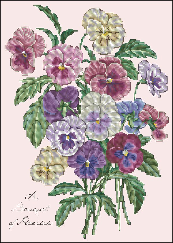 A The Bouquet of Pansies II