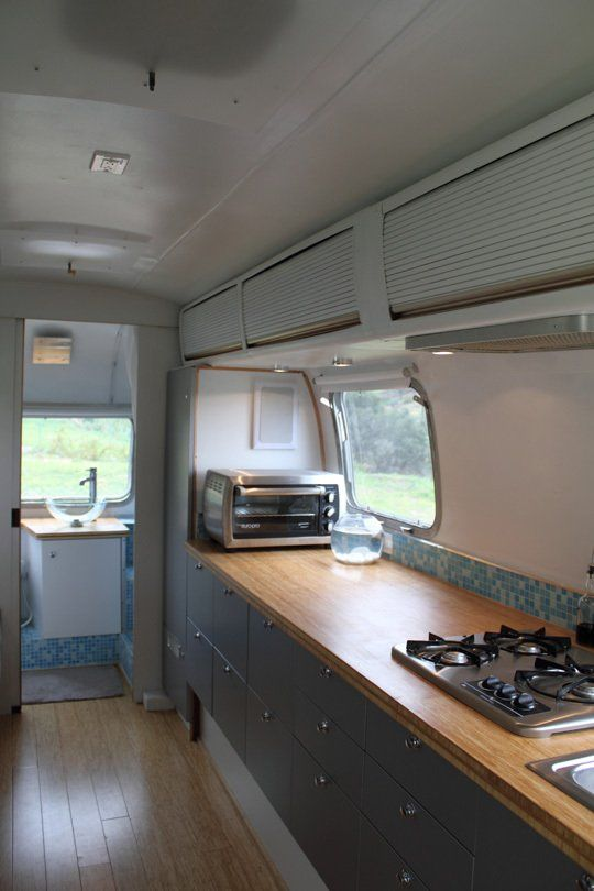 Living large in an airstream trailer house tours paint - Interior caravana ...