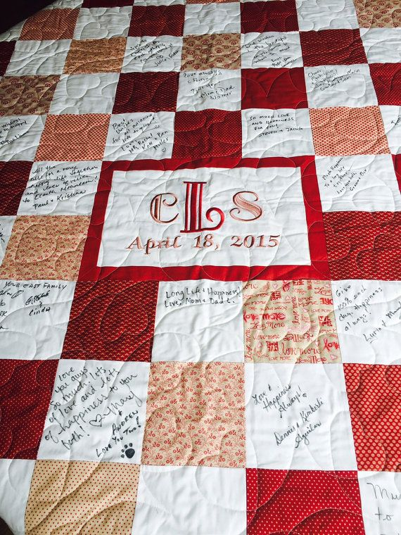 Hey, I found this really awesome Etsy listing at https://www.etsy.com/listing/233674687/custom-made-wedding-guest-book-quilt-for