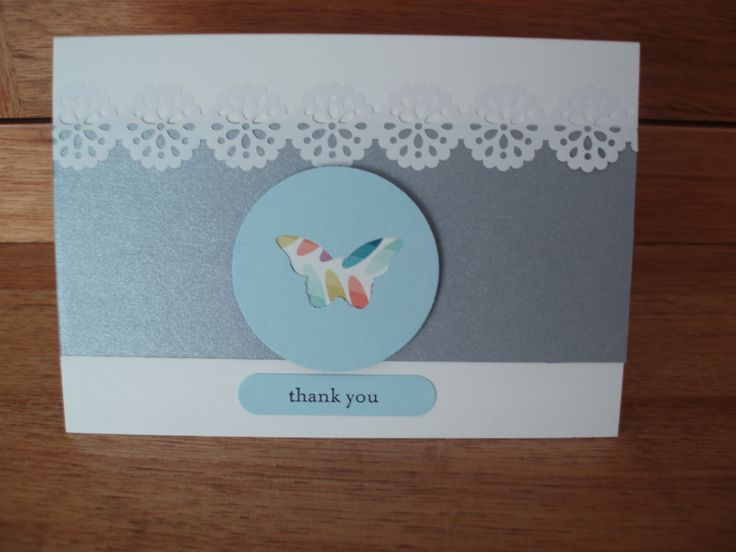 Thank you card, using Stampin' Up Products!