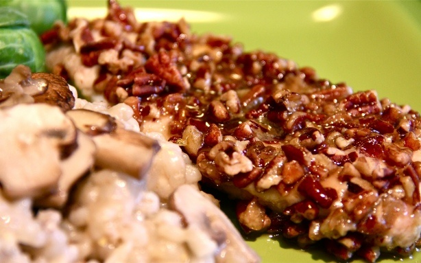 Pecan-Crusted Chicken with Orange-Maple Glaze