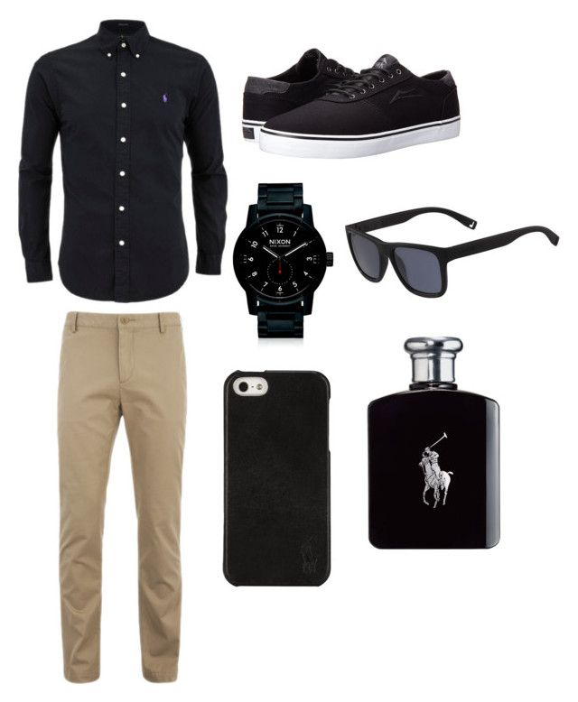 """""""Guy outfit"""" by washingtonjd ❤ liked on Polyvore featuring Lacoste, Lakai, Nixon, Polo Ralph Lauren, Ralph Lauren, men's fashion and menswear"""