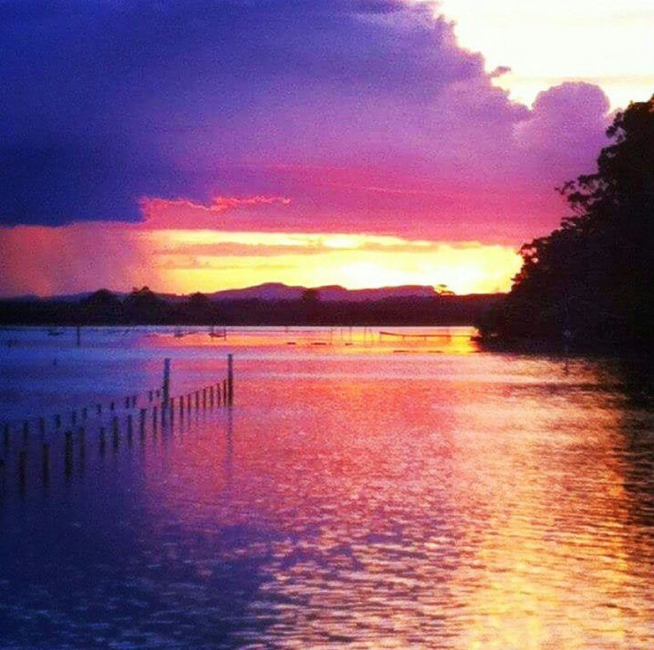 Port MacQuarrie on an Oyster farm ... Colourful sunset ~ Angels_Unisex_Jewellery