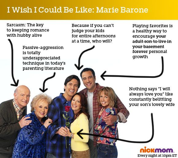 The mom in Everybody Loves Raymond is pretty much the gold standard of motherhood.