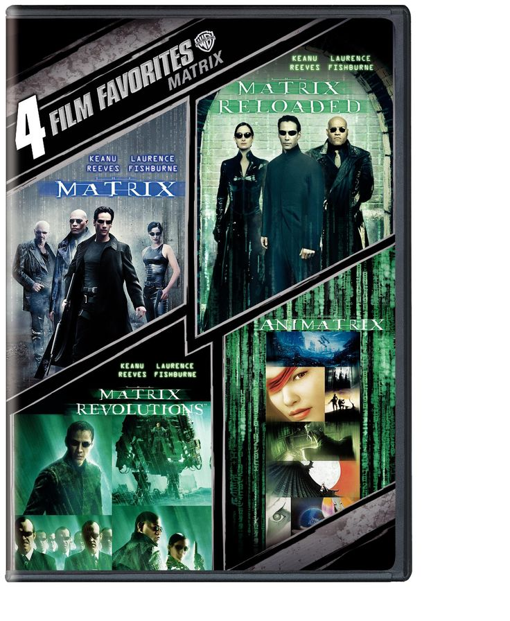 4 Film Favorites: The Matrix Collection (The Matrix / The Matrix Reloaded / The Matrix Revolutions / The Animatrix)