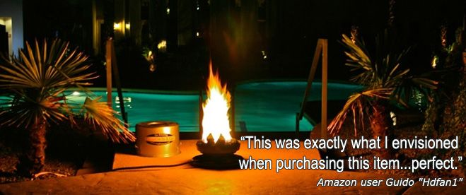 Take Your Campfire With You! Enjoy the comfort and beauty of a campfire everywhere your sense of fun and adventure take you with The Amazing Campfire In a Can portable propane fire pit. On the beach, at a campsite or RV Park, or year-round on the backyard patio.