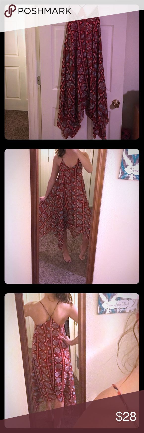 Paisley Dress Never worn. Paisley dress. Different lengths. Form fitting under dress. Spaghetti strap Agaci Dresses Midi