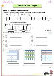 decimals test grade 5 pdf