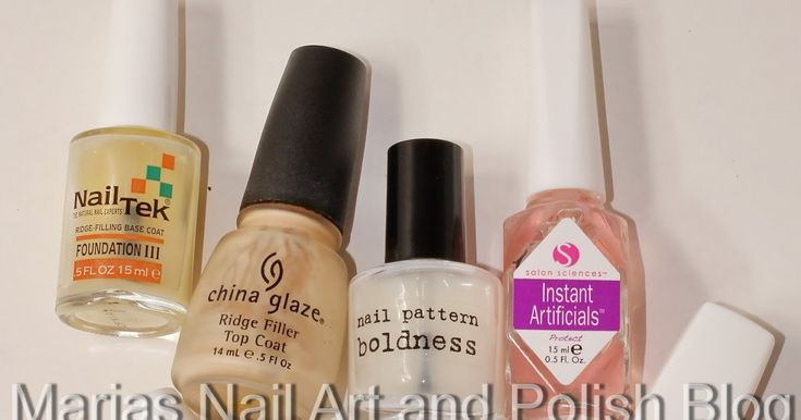Marias Nail Art and Polish Blog: Nail ridges and ridge fillers I tested.