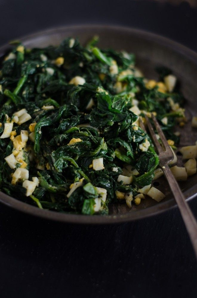 Buttered Spinach!  Simple recipe for spring. #nourishedkitchen