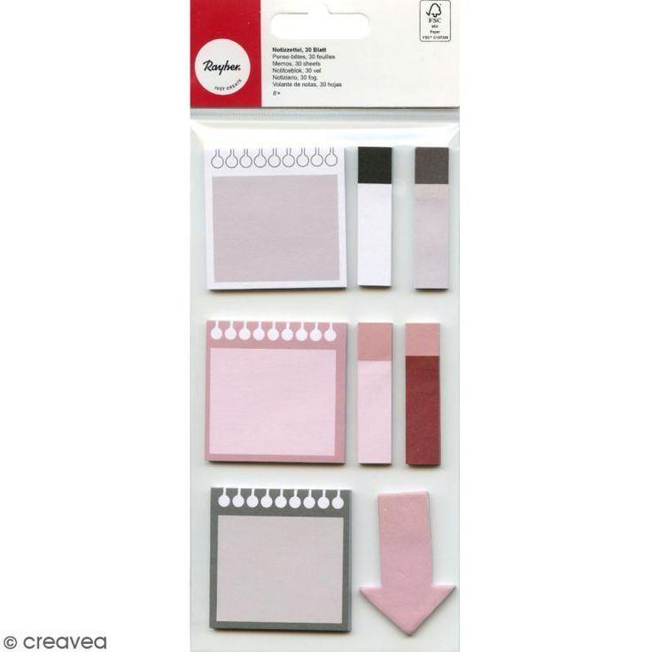 Compra nuestros productos a precios mini Set de Notas adhesivas - Rosa y Gris - 8 mini bloques - Entrega rápida, gratuita a partir de 89 € !