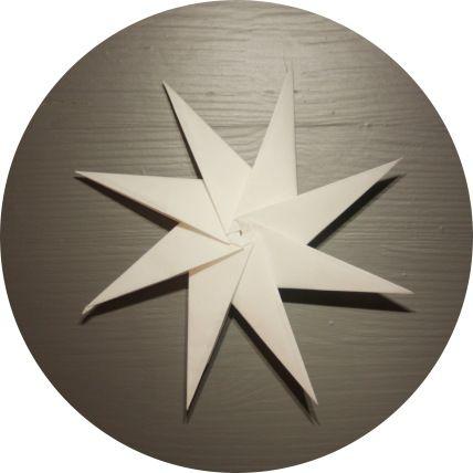 Åttetagget modulær papirstjerne - foldyouso.com