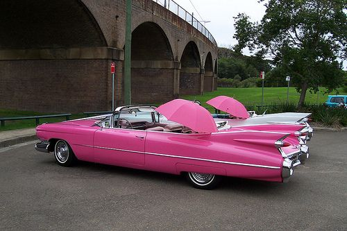 Lets go for a ride~Pink Cadillac, Cars Collection, Pink Old Cars, Classic Cars, Pink Cars, Awsome Cars, Antiques Cars, Dreams Cars, Cars Trucks