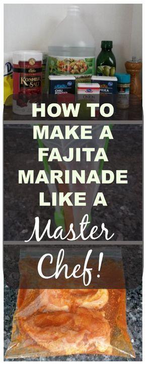 Wie man eine Fajita-Marinade wie ein Meisterkoch zubereitet