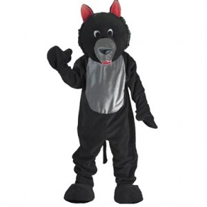 Cheap And Fun Black Wolf Mascot Costume