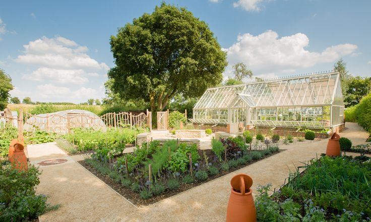 The heritage garden at Le Manoir is designed as a showcase for heritage vegetables. Potager (ornamental vegetable/kitchen garden) - Le Manoir Aux Quat'Saisons, Oxfordshire
